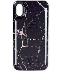metallic marble duo iphone x case