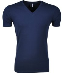 montazinni gamberro heren t-shirt v-hals navy