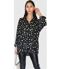 blusa missguided ml negro - calce oversize