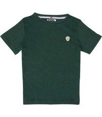 t-shirt manga corta cuello redondo verde botella