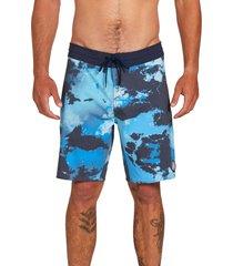 men's volcom bolinas stoney 19 board shorts, size 34 - blue