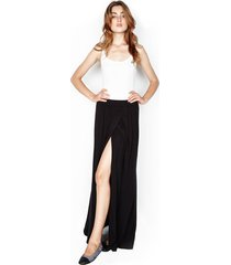 indy maxi wrap skirt - l black