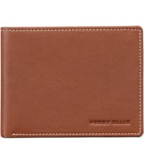 perry ellis men's leather wallet