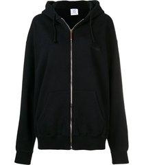 cut out elbows zip hoodie