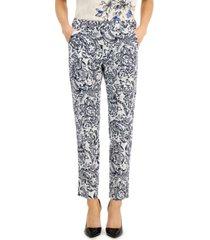 weekend max mara esule printed straight-leg pants