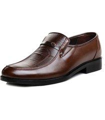 casual scarpe da business slip-on in cuoio morbido