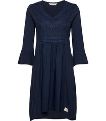 doris dress korte jurk blauw odd molly