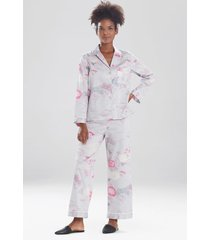 natori kiku sleep pajamas & loungewear set, women's, 100% cotton, size xs natori
