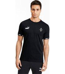 borussia mönchengladbach football culture t-shirt voor heren, zwart/aucun, maat l   puma