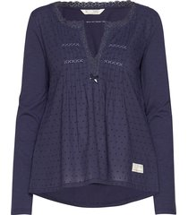 above and beyond top blouse lange mouwen blauw odd molly