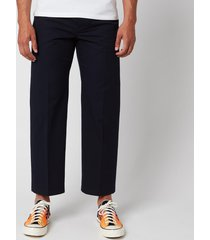 kenzo men's cropped pants - navy blue - w28