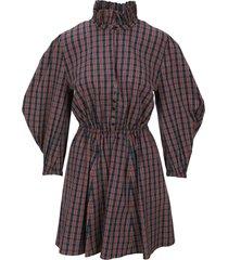 philosophy di lorenzo serafini philosophy tartan mini dress