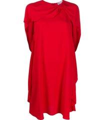 redvalentino cape-style draped dress