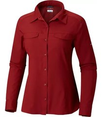 camisa mujer vinotinto  silver ridge lite m/l columbia