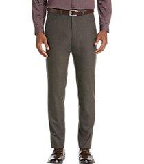 joe joseph abboud heathered brown extreme slim fit dress pants