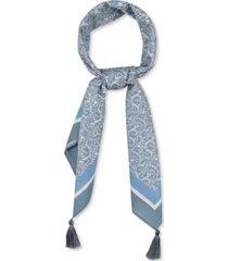 rebecca minkoff shadow leaf tassel square scarf
