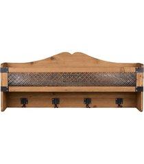 półka drewniana z wieszakami karla