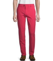 greyson men's montauk flat-front trousers - poppy - size 34 32