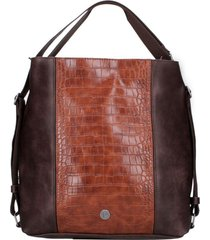 cartera hobo firenze chocolate pollini
