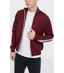 fred perry taped track jacket jackor tawny port