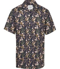 latif flower print ss shirt overhemd met korte mouwen multi/patroon les deux
