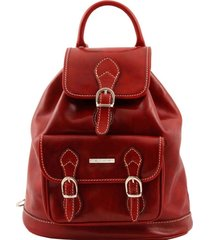 tuscany leather tl9039 singapore - zaino in pelle rosso