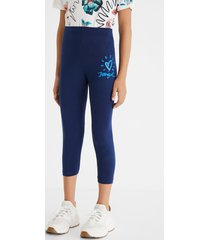 classic capri leggings - blue - xl