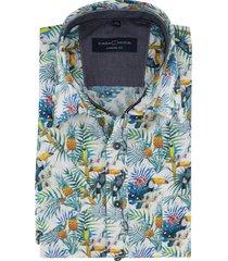overhemd casa moda tropical print korte mou