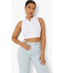 hemd met kraag detail, white