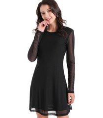 vestido textura de lunares negro nicopoly