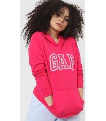 buzo rosa gap logo