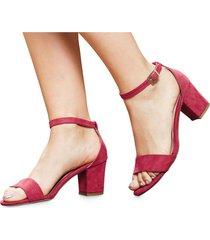 sandalias adulto marketing personal  para mujer -rojo