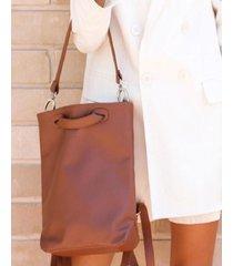 mochila marrón mulher  emma