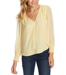 1.state smocked-sleeve v-neck top