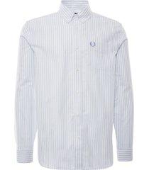 fred perry vertical stripe shirt | light smoke | m1661-146