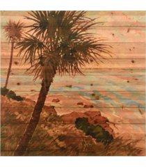 "empire art direct palm breeze ii arte de legno digital print on solid wood wall art, 36"" x 36"" x 1.5"""