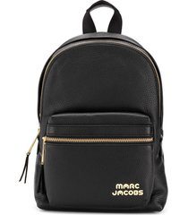 marc jacobs mochila de couro com logo - preto
