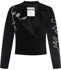 appliqued blazer