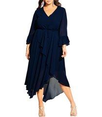 plus size women's city chic hidden treasure dress