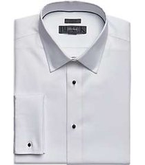 black by vera wang white slim fit corded stripe tuxedo formal shirt