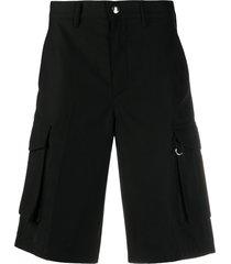 givenchy oversized pocket-style cargo shorts - black