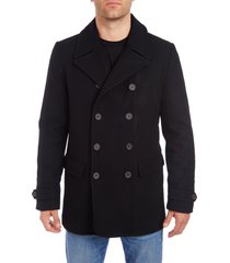 men's vince camuto water resistant wool blend peacoat, size xx-large