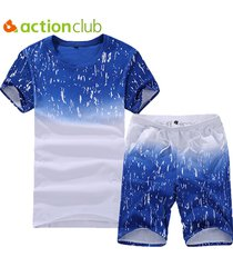 men's sport suit set cool summer short + t-shirt