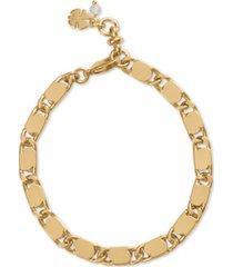 lucky brand gold-tone chain link bracelet