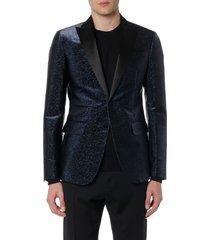 dsquared2 dark blue glitter textile jacket