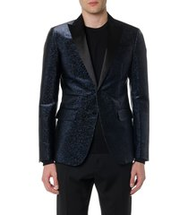 dsquared2 dark blue glitter textile jacket