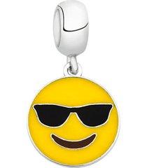berloque joia em casa emoji óculos escuro prata - tricae