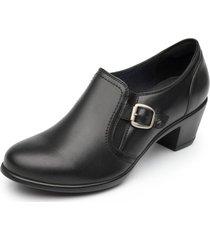 zapato constance taco medio color negro