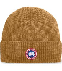 men's canada goose arctic disc ribbed toque beanie - metallic