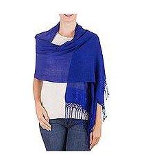 shawl, 'cobalt blue fiesta' (guatemala)